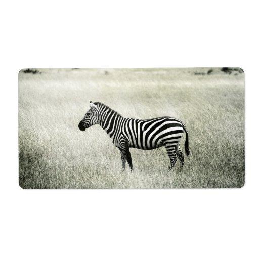 Zebra Shipping Label | Zazzle