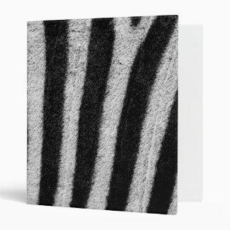 Zebra Skin 3 Ring Binder