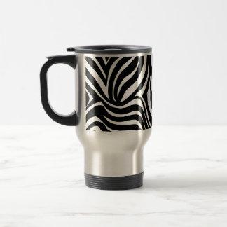Zebra Skin background design Travel Mug