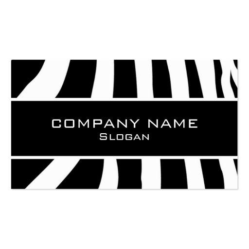 Zebra skin business card