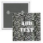 Zebra Skin Camouflage Texture Buttons