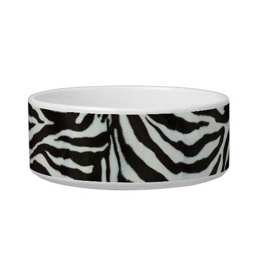 Zebra Skin Camouflage Texture Cat Bowls