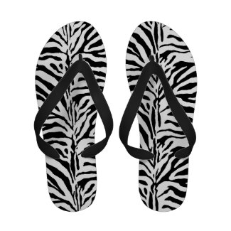 Zebra Skin Camouflage Texture Image Flip Flops
