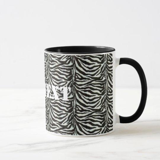 Zebra Skin Camouflage Texture Mug