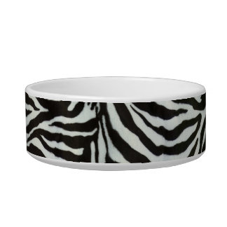 Zebra Skin Camouflage Texture Pet Bowl