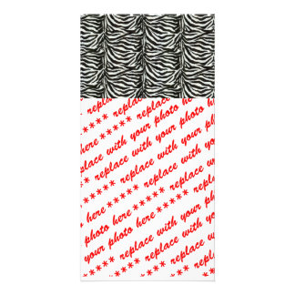 Zebra Skin Camouflage Texture Photo Card Template