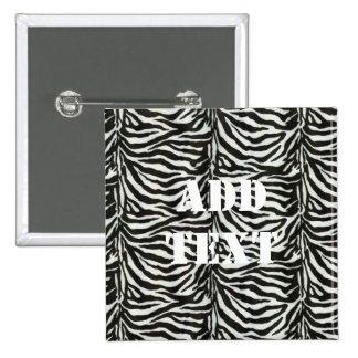 Zebra Skin Camouflage Texture Pinback Button