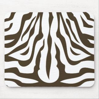 Zebra Skin in Coco Mousepads
