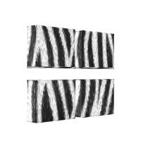 Zebra Skin Pattern 4 Panel Canvas Art