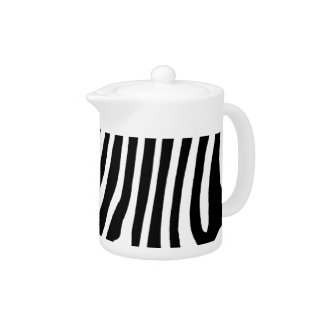 zebra skin, patterns teapot