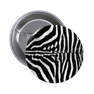 Zebra Skin Print 2 Inch Round Button