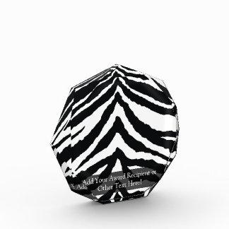 Zebra Skin Print Acrylic Award