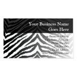 Zebra Skin Print Business Card Templates