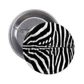 Zebra Skin Print Button