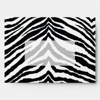 Zebra Skin Print Envelope