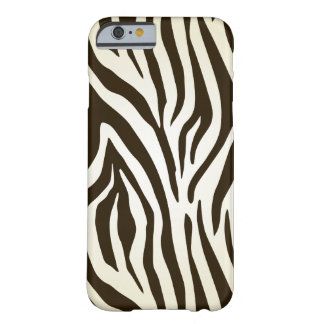 Zebra skin print stripes pattern barely there iPhone 6 case