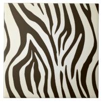 Zebra skin print stripes pattern ceramic tile