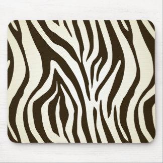 Zebra skin print stripes pattern mouse pad