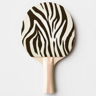 Zebra skin print stripes pattern Ping-Pong paddle