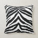 Zebra Skin Print Throw Pillow