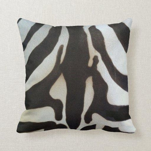 Real Animal Skin Pillows : Zebra Skin Print Throw Pillows Zazzle