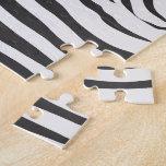 Zebra Skin Stripe Print Pattern Custom Puzzles
