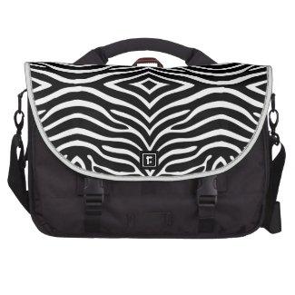 Zebra Skin Style Pattern Laptop Bag