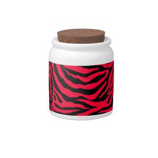 Zebra Skin Texture Add Change Background Color Candy Jar