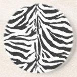 Zebra Skin Texture (Add/Change Background Color) Drink Coasters