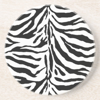 Zebra Skin Texture (Add/Change Background Color) Drink Coasters