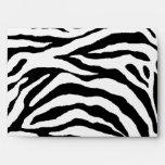 Zebra Skin Texture (Add/Change Background Color) Envelope