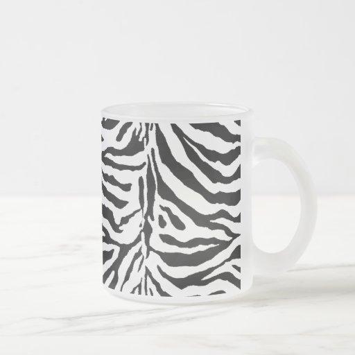 Zebra Skin Texture (Add/Change Background Color) Coffee Mug