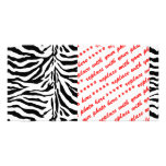 Zebra Skin Texture (Add/Change Background Color) Photo Cards