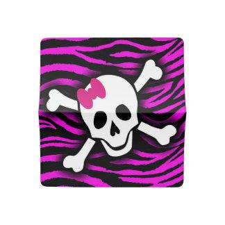Zebra Skull Checkbook Cover