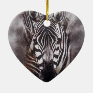 Zebra Splash animal art zoo Ceramic Ornament