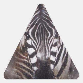 Zebra Splash animal art zoo Triangle Sticker