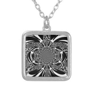 Zebra Square Pendant Necklace