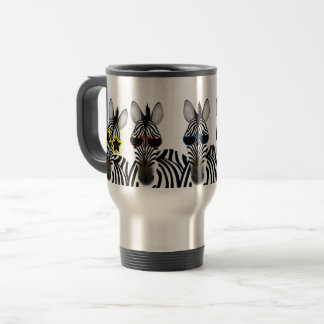 Zebra Stainless Steel 15 oz Travel/Commuter Mug