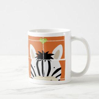 Zebra Stamp Classic White Coffee Mug