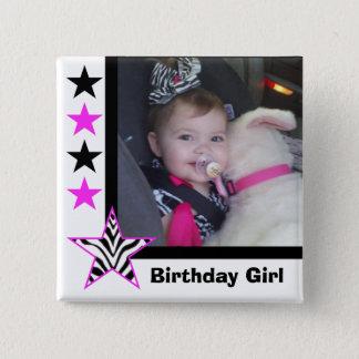 Zebra Star: Birthday Girl: Picture Button