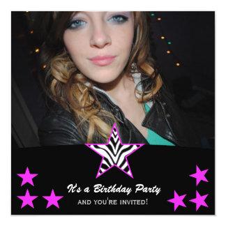 Zebra Star: Picture Party Invitations