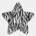 zebra star sticker