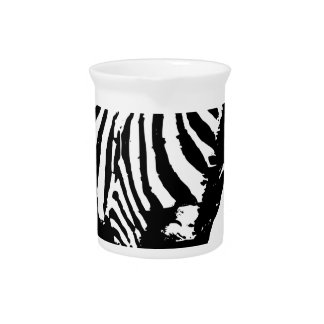 Zebra Staring Beverage Pitcher
