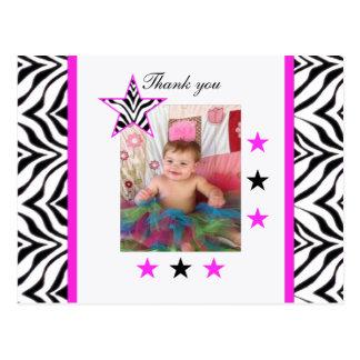 Zebra Stars: Picture: Thank You Postcard