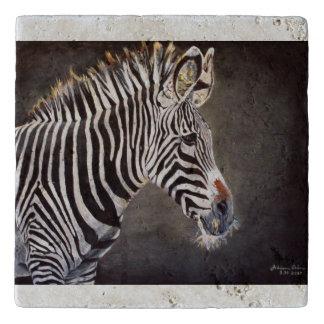 Zebra Stone Trivet