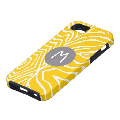 Zebra Stripe Any Color Personalize Monogram iPhone iPhone 5 Case