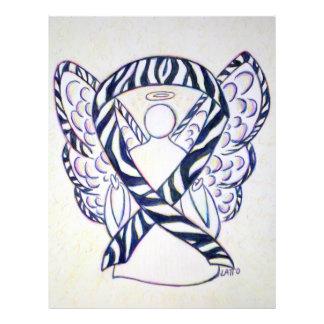 Zebra Stripe Awareness Ribbon Angel Art Paper