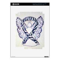 Zebra Stripe Awareness Ribbon Angel iPad 3 Cover Skin For iPad 3