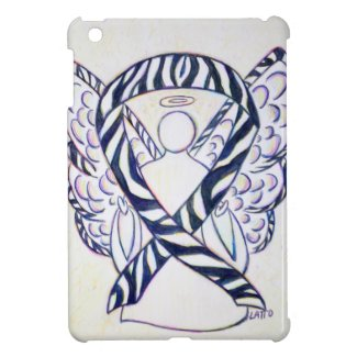 Zebra Stripe Awareness Ribbon Angel iPad Mini iPad Mini Case