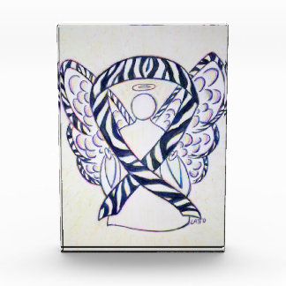 Zebra Stripe Awareness Ribbon Angel Paperweight Award